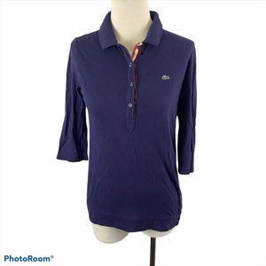 LACOSTE Blue 3/4 Sleeve Shirt